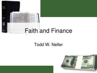 Faith and Finance