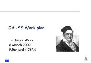 GAUSS Work plan