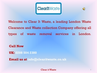 Waste Collection London