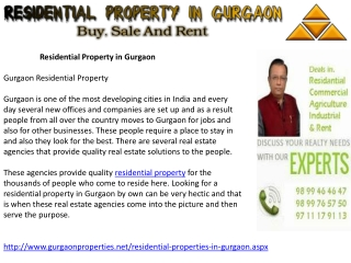Residential Property in Gurgaon | New Residential Project Gu