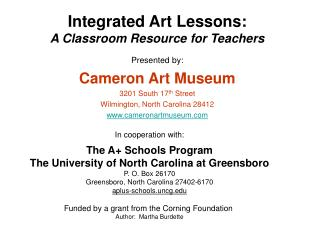 Integrated Art Lessons: A Classroom Resource for Teachers