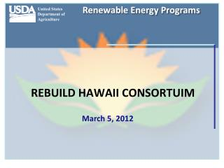 REBUILD HAWAII CONSORTUIM