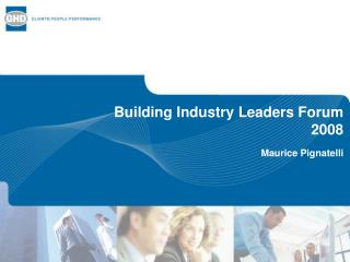 Building Industry Leaders Forum 2008