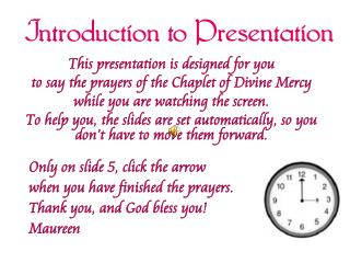 Introduction to Presentation