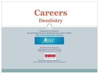Careers  Dentistry