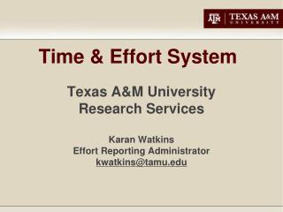 Time  Effort System