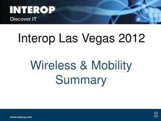 Interop Las Vegas 2012
