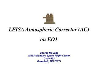 LEISA Atmospheric Corrector AC on EO1