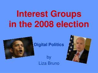 Interest Groups in the 2008 election