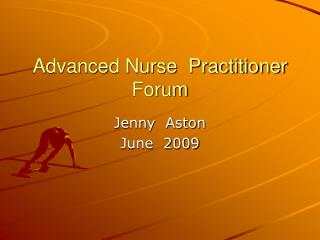 Advanced Nurse  Practitioner  Forum