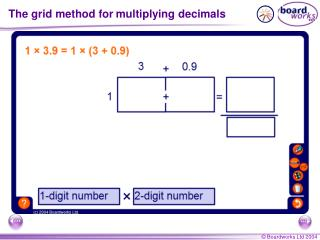 The grid method for multiplying decimals