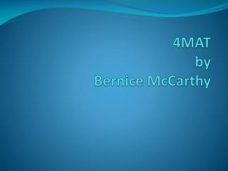 4MAT  by  Bernice McCarthy