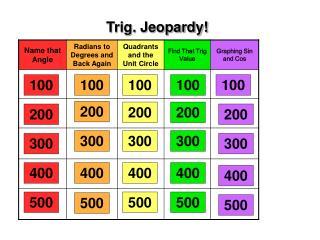 Trig. Jeopardy