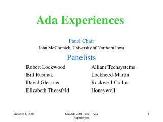 Ada Experiences