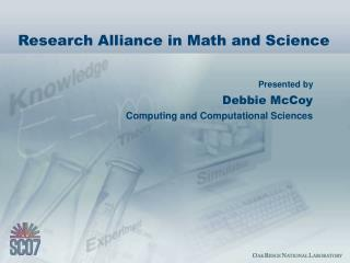 Research Alliance in Math and Science