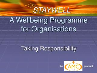 A Wellbeing Programme for Organisations