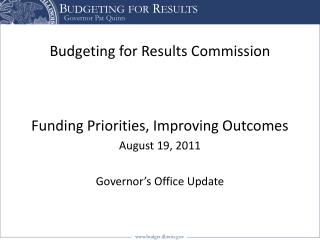 Budgeting for Results Commission