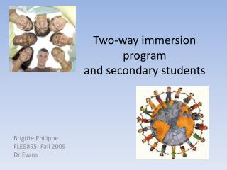 Two-way immersion program  and secondary students