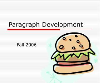 Paragraph Development