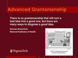 Advanced Grantsmanship