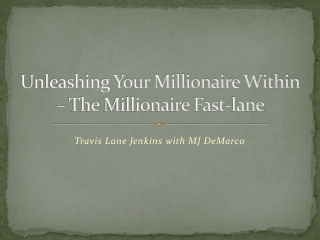 Unleashing Your Millionaire Within