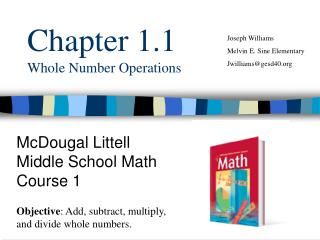 Chapter 1.1 Whole Number Operations