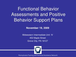 Functional Behavior Assessments and Positive Behavior Support Plans