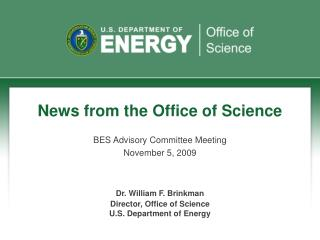 News from the Office of Science