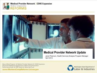 Medical Provider Network Update