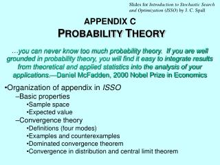 APPENDIX C  PROBABILITY THEORY