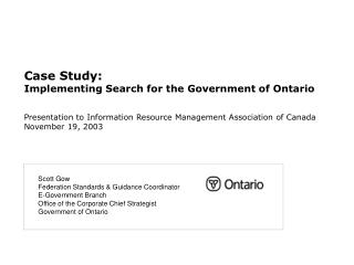 Case Study: Implementing Search for the Government of Ontario