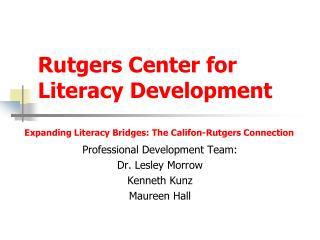 Rutgers Center for Literacy Development