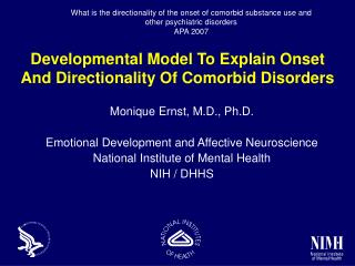 Developmental Model To Explain Onset And Directionality Of Comorbid Disorders