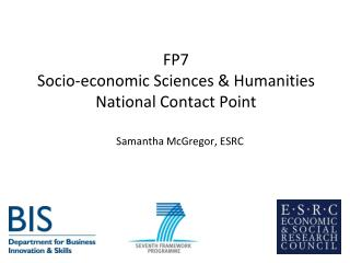 FP7  Socio-economic Sciences  Humanities National Contact Point