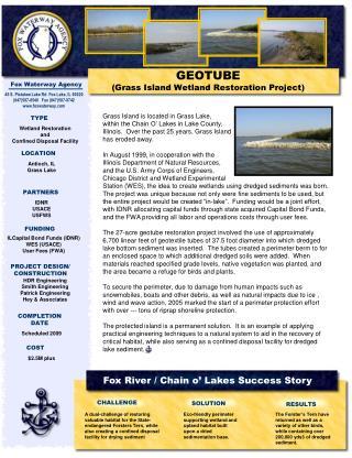 GEOTUBE Grass Island Wetland Restoration Project