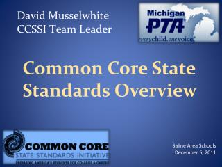 Common Core State Standards Overview