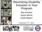 Maximizing Disability Inclusion in Your Program