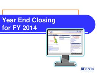 Year End Closing  for FY 2013