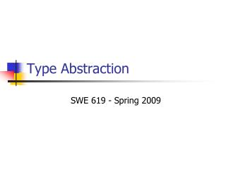 Type Abstraction