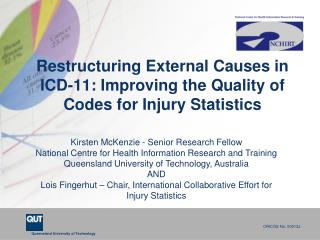 Restructuring External Causes in ICD-11: Improving the Quality of Codes for Injury Statistics