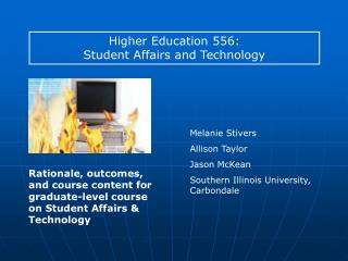 Higher Education 556: Student Affairs and Technology