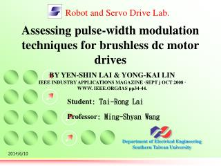 Assessing pulse-width modulation techniques for brushless dc motor drives
