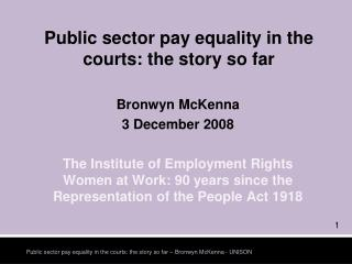 Public sector pay equality in the courts: the story so far