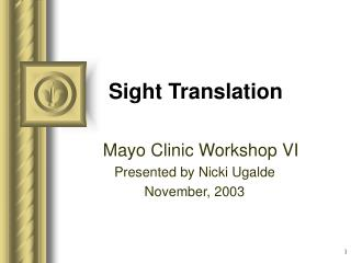 Sight Translation