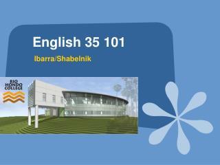English 35 101