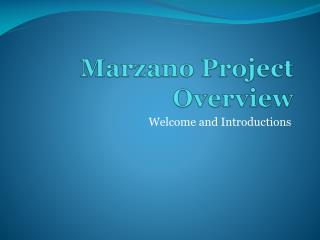 Marzano Project Overview