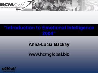 Introduction to Emotional Intelligence  2004