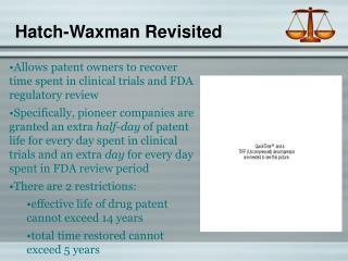 Hatch-Waxman Revisited