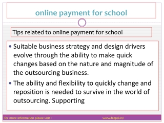 Participants in Online payment for school