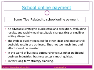Basic instruction of  school online payment